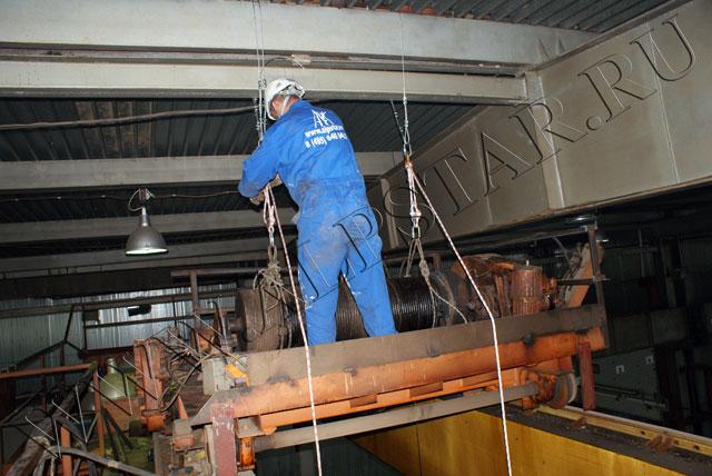 Подготовка к демонтажу лебедки
