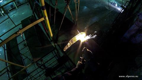 Демонтаж мостового крана промышленные альпинисты альпстар