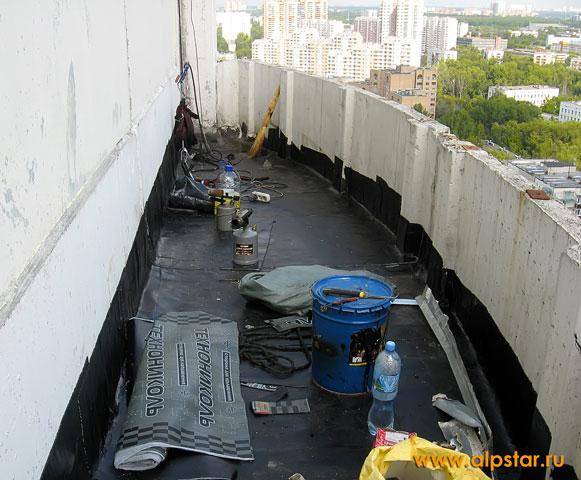 Как сделать гидроизоляцию открытого балкона 659