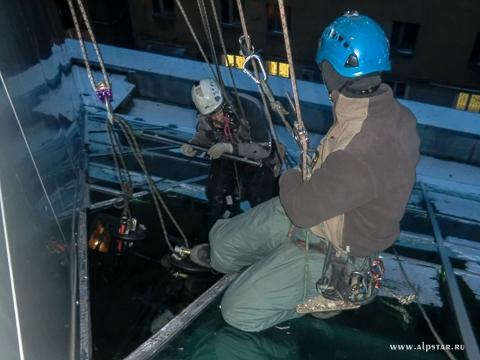 Демонтаж монтаж стеклопакетов, промышленные альпинисты альпстар