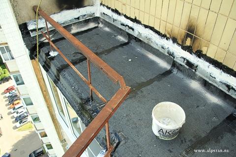 отремонтированная плита балкона